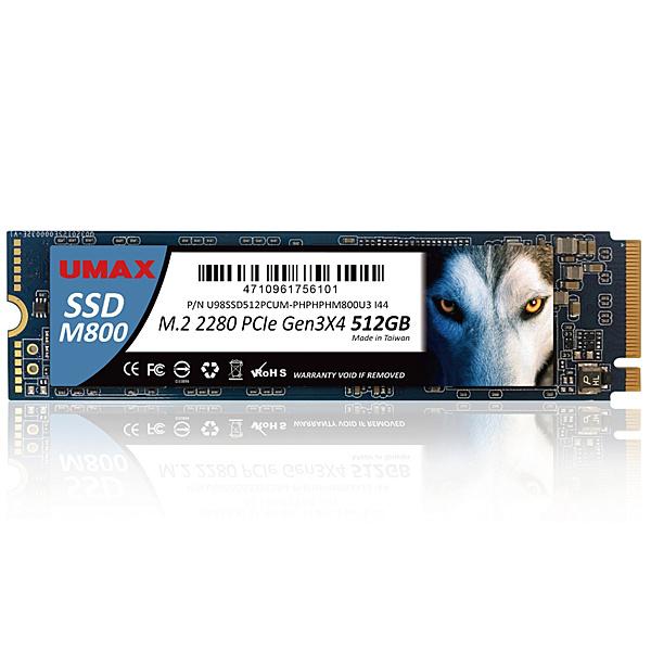 【送料無料】UMAX UM-SSDNV34M800-512 (M.2 2280 NVMe SSD) M800 M.2 2280 PCIe Gen3x4 512GB【在庫目安:僅少】| パソコン周辺機器 M.2SSD M.2 SSD 耐久 省電力 フラッシュディスク フラッシュ 増設 交換