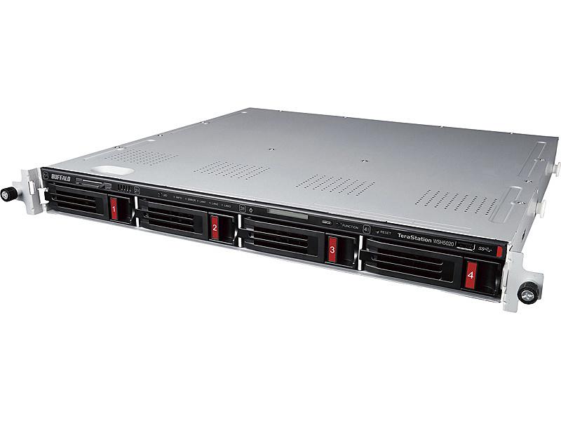 【送料無料】バッファロー WSH5420RN08S9 ハードウェアRAID TeraStation WSH5420N9シリーズ 4ベイラックマウントNAS 8TB Standard【在庫目安:お取り寄せ】| パソコン周辺機器