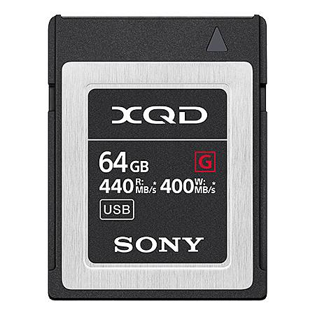 【送料無料】SONY(VAIO) QD-G64F XQDメモリーカード Gシリーズ 64GB【在庫目安:お取り寄せ】