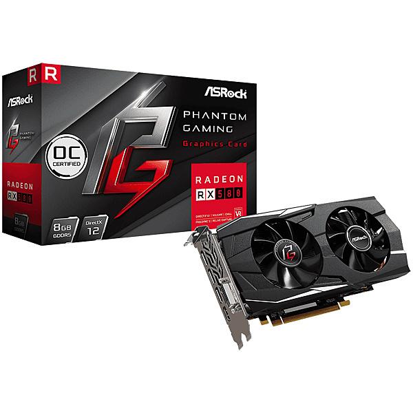 【送料無料】ASRock PG D Radeon RX580 8G OC グラフィックボード AMD RX580搭載 Phantom Gamingモデル【在庫目安:お取り寄せ】| パソコン周辺機器 グラフィックボード グラフィックカード グラボ ビデオカード グラフィック ビデオ パソコン 交換