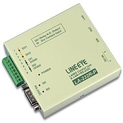 【送料無料】ラインアイ LA-232R-P LAN接続型デジタルIOユニット+LAN<=>RS-232C変換 リレー接点2出力/ ドライ接点2入力【在庫目安:お取り寄せ】
