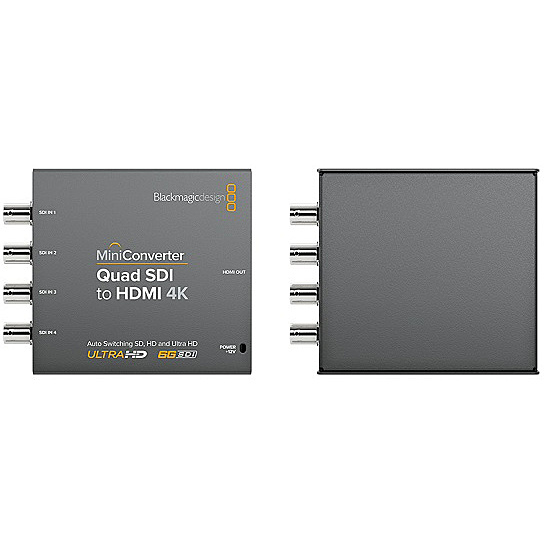 【送料無料】Blackmagic Design CONVMBSQUH4K2 Mini Converter Quad SDI to HDMI 4K 2【在庫目安:お取り寄せ】| パソコン周辺機器 グラフィック ビデオ オプション ビデオ パソコン PC