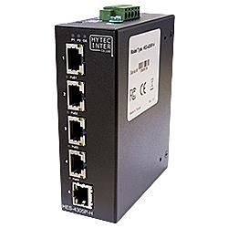 【送料無料】ハイテクインター 141-HY-016 産業用GbE/ PoE対応イーサネットスイッチ HES-4305P-H (10/ 100/ 1000BASE-T×5(PoE×4))【在庫目安:お取り寄せ】
