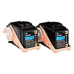 【送料無料】EPSON LPC3T33CPV LP-S7160シリーズ用 環境推進トナー/ シアン/ Mサイズ2本パック(5300ページ×2本)【在庫目安:僅少】| トナー カートリッジ トナーカットリッジ トナー交換 印刷 プリント プリンター