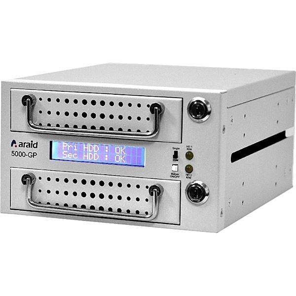 【送料無料】Accordance ARAID5000GP-A/M-W 2bays SATA/ SATA LCD付内蔵型ミラーRAIDユニット RoHS対応品 白【在庫目安:お取り寄せ】