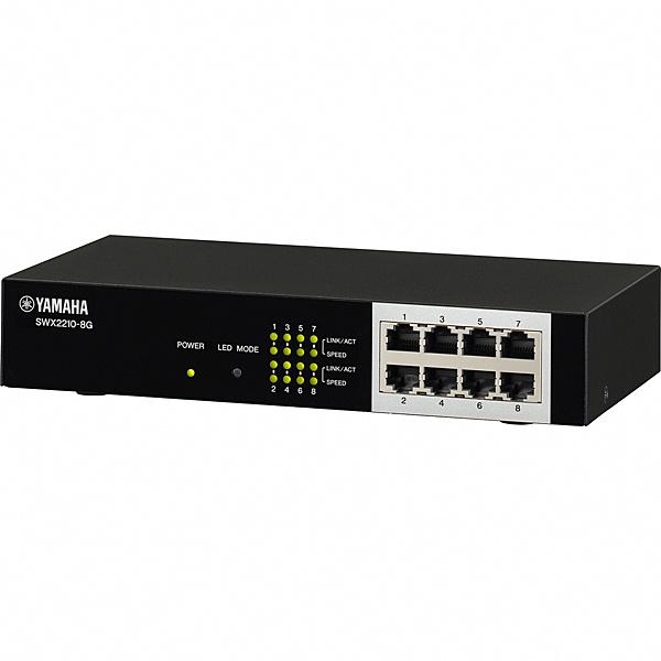 【送料無料】ヤマハ SWX2210-8G スマートL2スイッチ 8ポート【在庫目安:僅少】| パソコン周辺機器 スイッチングハブ L2スイッチ レイヤー2スイッチ スイッチ ハブ L2 ネットワーク PC パソコン