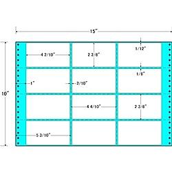 【送料無料】東洋印刷 M15V タックフォームラベル 15インチ×10インチ 12面付(1ケース500折)【在庫目安:お取り寄せ】| ラベル シール シート シール印刷 プリンタ 自作