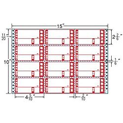 【送料無料】東洋印刷 M15CPK タックフォームラベル 15インチ×10インチ 12面付(1ケース500折)【在庫目安:お取り寄せ】| ラベル シール シート シール印刷 プリンタ 自作