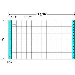 【送料無料】東洋印刷 M11H タックフォームラベル 11 8/ 10インチ×7インチ 72面付(1ケース1000折)【在庫目安:お取り寄せ】| ラベル シール シート シール印刷 プリンタ 自作