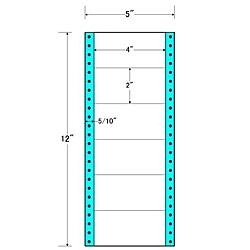 【送料無料】東洋印刷 MM5A タックフォームラベル 5インチ×12インチ 6面付(1ケース1000折)【在庫目安:お取り寄せ】| ラベル シール シート シール印刷 プリンタ 自作
