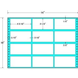 【送料無料】東洋印刷 MT14F タックフォームラベル 14インチ×10インチ 12面付(1ケース500折)【在庫目安:お取り寄せ】| ラベル シール シート シール印刷 プリンタ 自作