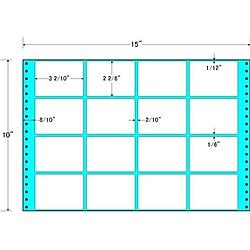 【送料無料】東洋印刷 M15Q タックフォームラベル 15インチ×10インチ 16面付(1ケース500折)【在庫目安:お取り寄せ】| ラベル シール シート シール印刷 プリンタ 自作