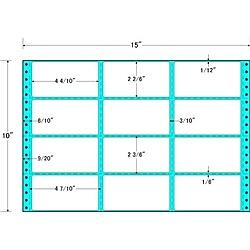 【送料無料】東洋印刷 MH15A タックフォームラベル 15インチ×10インチ 12面付(1ケース500折)【在庫目安:お取り寄せ】| ラベル シール シート シール印刷 プリンタ 自作