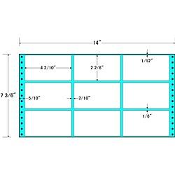 【送料無料】東洋印刷 MX14Y タックフォームラベル 14インチ×7 3/ 6インチ 9面付(1ケース1000折)【在庫目安:お取り寄せ】
