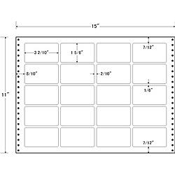 【送料無料】東洋印刷 LT15P タックフォームラベル 15インチ×11インチ 20面付(1ケース500折)【在庫目安:お取り寄せ】| ラベル シール シート シール印刷 プリンタ 自作