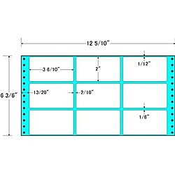 【送料無料】東洋印刷 MT12G タックフォームラベル 12 5/ 10インチ×6 3/ 6インチ 9面付(1ケース1000折)【在庫目安:お取り寄せ】| ラベル シール シート シール印刷 プリンタ 自作