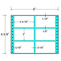【送料無料】東洋印刷 MM8U タックフォームラベル 8インチ×6 3/ 6インチ 6面付(1ケース1000折)【在庫目安:お取り寄せ】| ラベル シール シート シール印刷 プリンタ 自作