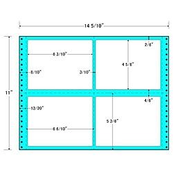 【送料無料】東洋印刷 MX14O タックフォームラベル 14 5/ 10インチ×11インチ 4面付(1ケース500折)【在庫目安:お取り寄せ】| ラベル シール シート シール印刷 プリンタ 自作