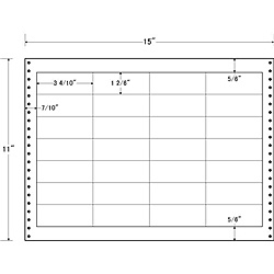 【送料無料】東洋印刷 LX15K タックフォームラベル 15インチ×11インチ 28面付(1ケース500折)【在庫目安:お取り寄せ】| ラベル シール シート シール印刷 プリンタ 自作