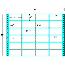 【送料無料】東洋印刷 MH15X タックフォームラベル 15インチ×11インチ 24面付(1ケース500折)【在庫目安:お取り寄せ】| ラベル シール シート シール印刷 プリンタ 自作