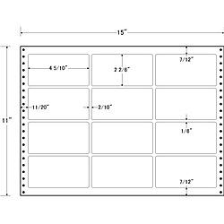 【送料無料】東洋印刷 LH15E タックフォームラベル 15インチ×11インチ 12面付(1ケース500折)【在庫目安:お取り寄せ】| ラベル シール シート シール印刷 プリンタ 自作