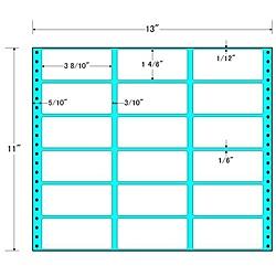 【送料無料】東洋印刷 M13B タックフォームラベル 13インチ×11インチ 18面付(1ケース500折)【在庫目安:お取り寄せ】| ラベル シール シート シール印刷 プリンタ 自作