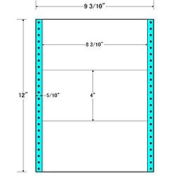 【送料無料】東洋印刷 M9E タックフォームラベル 9 3/ 10インチ×12インチ 3面付(1ケース500折)【在庫目安:お取り寄せ】| ラベル シール シート シール印刷 プリンタ 自作