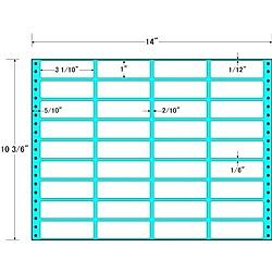 【送料無料】東洋印刷 MX14J タックフォームラベル 14インチ×10 3/ 6インチ 36面付(1ケース500折)【在庫目安:お取り寄せ】| ラベル シール シート シール印刷 プリンタ 自作