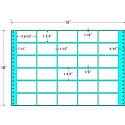 【送料無料】東洋印刷 MX15P タックフォームラベル 15インチ×10インチ 30面付(1ケース500折)【在庫目安:お取り寄せ】  ラベル シール シート シール印刷 プリンタ 自作