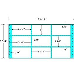 【送料無料】東洋印刷 M12M タックフォームラベル 12 5/ 10インチ×6 3/ 6インチ 9面付(1ケース1000折)【在庫目安:お取り寄せ】| ラベル シール シート シール印刷 プリンタ 自作