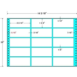 10インチ×10インチ ラベル シート タックフォームラベル 【送料無料】東洋印刷 シール印刷 5/ 14 15面付(1ケース500折)【在庫目安:お取り寄せ】| M14R プリンタ 自作 シール