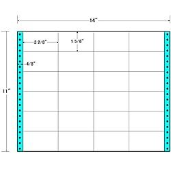 【送料無料】東洋印刷 MX14B タックフォームラベル 14インチ×11インチ 24面付(1ケース500折)【在庫目安:お取り寄せ】| ラベル シール シート シール印刷 プリンタ 自作