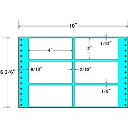 【送料無料】東洋印刷 MT10X タックフォームラベル 10インチ×6 3/ 6インチ 6面付(1ケース1000折)【在庫目安:お取り寄せ】| ラベル シール シート シール印刷 プリンタ 自作