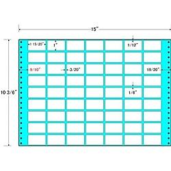 【送料無料】東洋印刷 MH15V タックフォームラベル 15インチ×10 3/ 6インチ 63面付(1ケース500折)【在庫目安:お取り寄せ】| ラベル シール シート シール印刷 プリンタ 自作