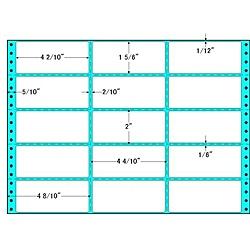 【送料無料】東洋印刷 RX14X タックフォームラベル 14インチ×10インチ 15面付(1ケース500折)【在庫目安:お取り寄せ】| ラベル シール シート シール印刷 プリンタ 自作