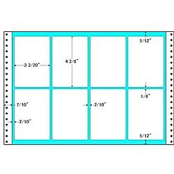 【送料無料】東洋印刷 TLA15G タックフォームラベル 15インチ×10インチ 8面付(1ケース500折)【在庫目安:お取り寄せ】| ラベル シール シート シール印刷 プリンタ 自作