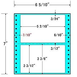 【送料無料】東洋印刷 MM6H タックフォームラベル 6 5/ 10インチ×7インチ 2面付(1ケース1000折)【在庫目安:お取り寄せ】| ラベル シール シート シール印刷 プリンタ 自作