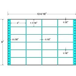 【送料無料】東洋印刷 MH13C タックフォームラベル 13 4/ 10インチ×9インチ 24面付(1ケース500折)【在庫目安:お取り寄せ】| ラベル シール シート シール印刷 プリンタ 自作