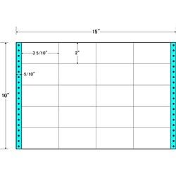 【送料無料】東洋印刷 M15U タックフォームラベル 15インチ×10インチ 20面付(1ケース500折)【在庫目安:お取り寄せ】| ラベル シール シート シール印刷 プリンタ 自作
