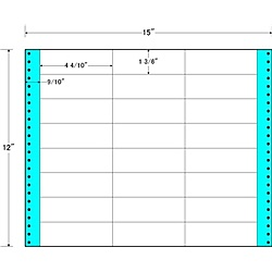 【送料無料】東洋印刷 MX15T タックフォームラベル 15インチ×12インチ 24面付(1ケース500折)【在庫目安:お取り寄せ】| ラベル シール シート シール印刷 プリンタ 自作