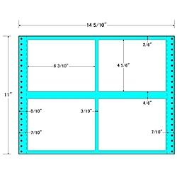 【送料無料】東洋印刷 MX14F タックフォームラベル 14 5/ 10インチ×11インチ 4面付(1ケース500折)【在庫目安:お取り寄せ】| ラベル シール シート シール印刷 プリンタ 自作