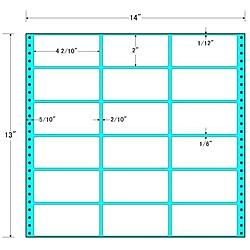 【送料無料】東洋印刷 MX14A タックフォームラベル 14インチ×13インチ 18面付(1ケース500折)【在庫目安:お取り寄せ】| ラベル シール シート シール印刷 プリンタ 自作