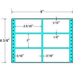 【送料無料】東洋印刷 M9Y タックフォームラベル 9インチ×6 3/ 6インチ 6面付(1ケース1000折)【在庫目安:お取り寄せ】| ラベル シール シート シール印刷 プリンタ 自作