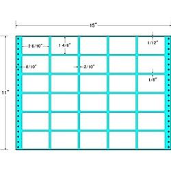 【送料無料】東洋印刷 RT15B タックフォームラベル 15インチ×11インチ30面付(1ケース500折)【在庫目安:お取り寄せ】| ラベル シール シート シール印刷 プリンタ 自作