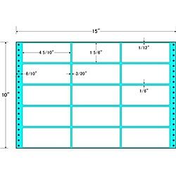 【送料無料】東洋印刷 M15T タックフォームラベル 15インチ×10インチ 15面付(1ケース500折)【在庫目安:お取り寄せ】| ラベル シール シート シール印刷 プリンタ 自作