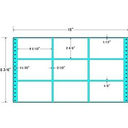 【送料無料】東洋印刷 MH15J タックフォームラベル 15インチ×8 3/ 6インチ 9面付(1ケース500折)【在庫目安:お取り寄せ】| ラベル シール シート シール印刷 プリンタ 自作