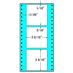 【送料無料】東洋印刷 R4H タックフォームラベル 4 5/ 10インチ×9インチ 3面付(1ケース1000折)【在庫目安:お取り寄せ】| ラベル シール シート シール印刷 プリンタ 自作