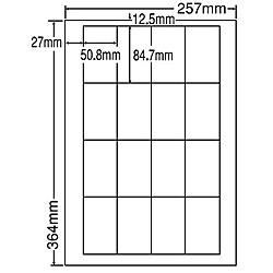 【送料無料】東洋印刷 LEW16S シートカットラベル B4版 16面付(1ケース500シート)【在庫目安:お取り寄せ】| ラベル シール シート シール印刷 プリンタ 自作
