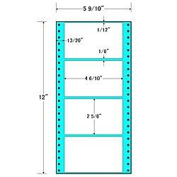 【送料無料】東洋印刷 MT5B タックフォームラベル 5 9/ 10インチ×12インチ 4面付(1ケース1000折)【在庫目安:お取り寄せ】| ラベル シール シート シール印刷 プリンタ 自作