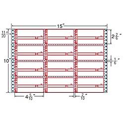 【送料無料】東洋印刷 M15CP タックフォームラベル 15インチ×10インチ 12面付(1ケース500折)【在庫目安:お取り寄せ】| ラベル シール シート シール印刷 プリンタ 自作